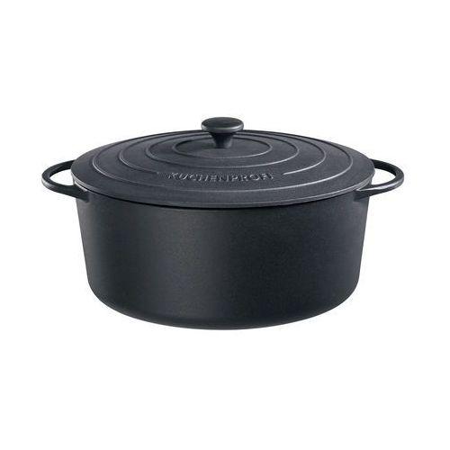 - provence - owalny garnek do zapiekania, 9,00 l, czarny - czarny marki Kuchenprofi