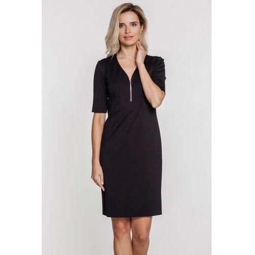 Dżersejowa sukienka obszyta suwakiem - Vito Vergelis, 1 rozmiar