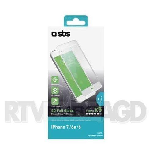 Sbs  4d glass screen protector tescreen4dip7w iphone 7/6s/6 (biały) - produkt w magazynie - szybka wysyłka!