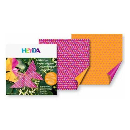 Papier do origami 10x10cm  motylki,kwiaty x40 marki Heyda