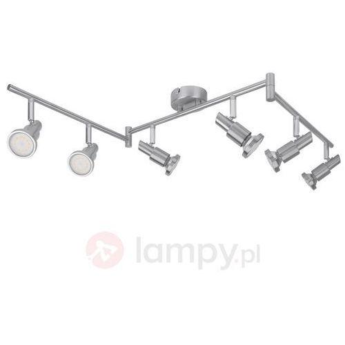 Lampa sufitowa LED OSRAM LED Spot 6x3W grå 4052899393837, LED wbudowany na stałe, 6 x 3 W, 1440 lm, ciepły biały, 119 cm x 8 cm x 17 cm nikiel (szczotkowany) (4052899393820)