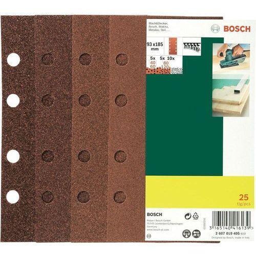 Zestaw papierów ściernych BOSCH Promoline 93 x 185 mm (25 elementów) (3165140416139)