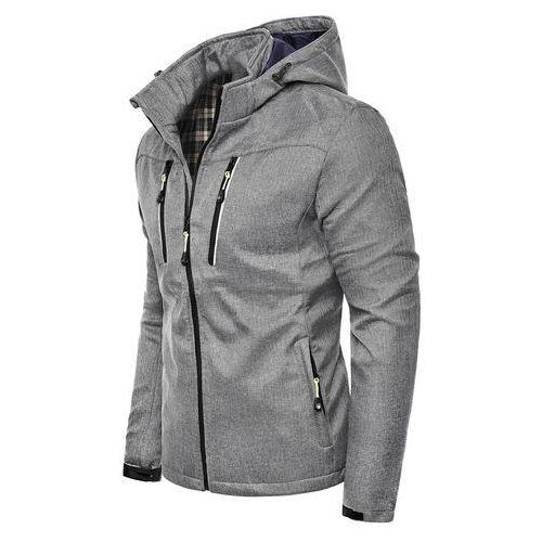 Wyprzedaż kurtka męska zimowa d04 - szara, Risardi, M-XXXL