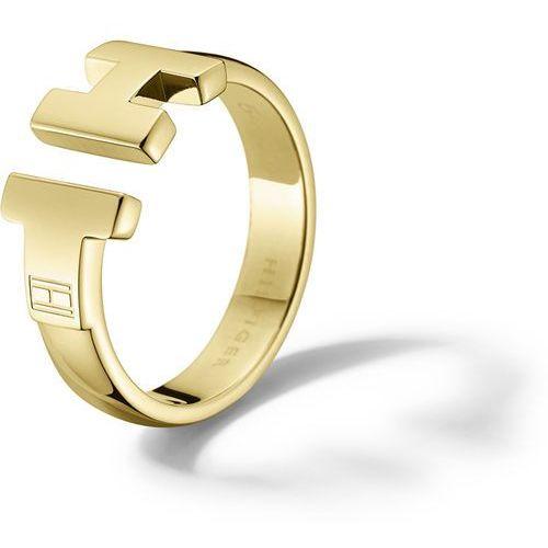 Tommy Hilfiger Luksusowy złoty pierścień ze stali TH2700863 (obwód 56 mm)