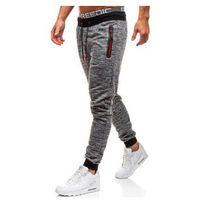 Spodnie męskie dresowe joggery ciemnoszare Denley KK532, dresowe