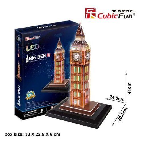 Cubicfun Puzzle 3d zegar big ben (światło)