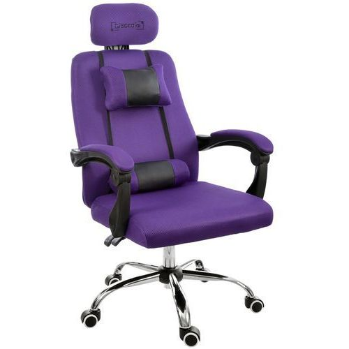 Fotel biurowy fioletowy, model gpx010 marki Giosedio
