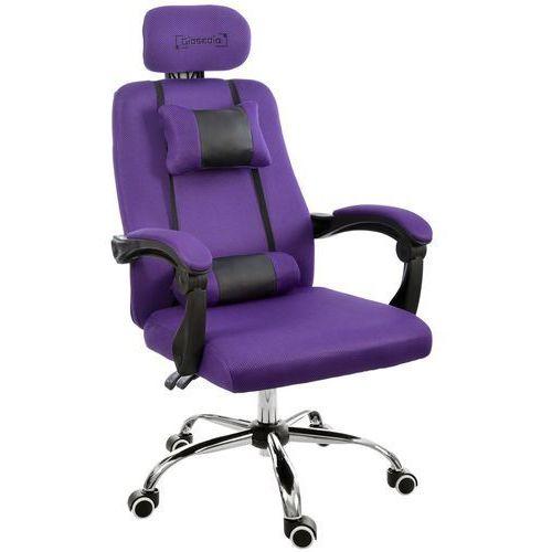 Fotel biurowy GIOSEDIO fioletowy, model GPX010 (5902751542189)