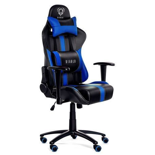 Fotel chairs x-player czarno-niebieski + zamów z dostawą jutro! marki Diablo