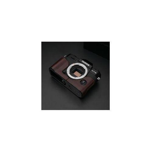 Halfcase z naturalnej skóry w kolorze brązowym dedykowany do Fuji Film X-T10