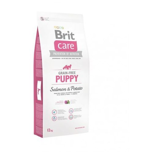 care grain free puppy salmon & potato 12kg marki Brit