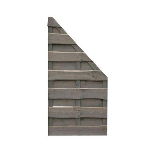 Werth-holz Płot skośny 90x180 cm drewniany szary nevada