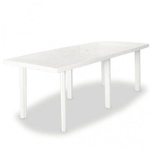 Praktyczny stół ogrodowy Imelda 3X - biały, kolor biały