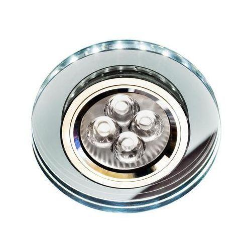 Candellux Oprawa sufitowa oczko halogenowe ss-23 ch/tr+wh 1x50w gu10 + 2,1w led smd chrom, biały 2226941
