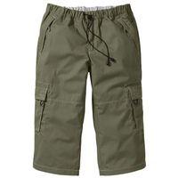 Spodnie 3/4 loose fit oliwkowy marki Bonprix