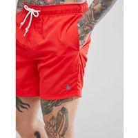 Original Penguin Swim Shorts Slim Fit Small Logo in Red - Red