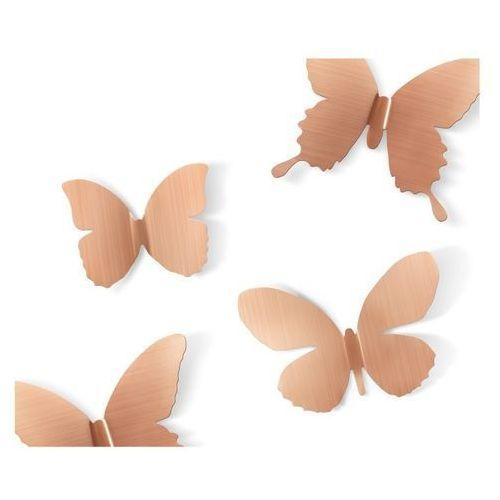 Umbra - dekoracja ścienna mariposa - miedziana - miedź