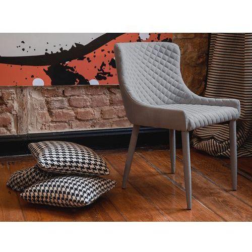 Krzesło szare - do jadalni - kuchenne - do salonu - SOLANO - produkt z kategorii- Krzesła