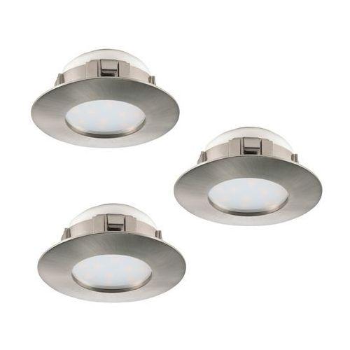 Eglo 95809 - Zestaw 3x LED Oprawa wpuszczana PINEDA 3xLED/6W/230V (9002759958091)