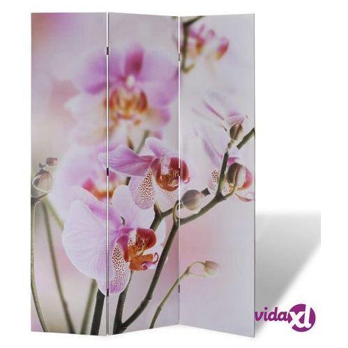 Vidaxl parawan/dzielnik pokojowy w kwiaty, 120 x 180 cm