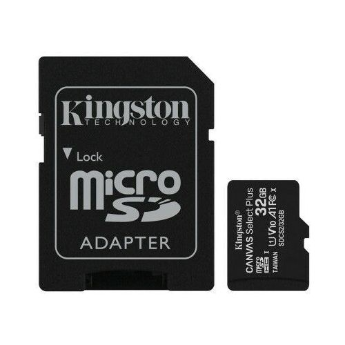 Kingston karta pamięci microsdhc canvas select plus (32gb | class 10 | uhs-i | 100 mb/s) + adapter
