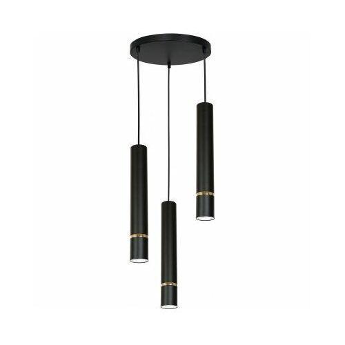 Luminex reno 5171 lampa wisząca zwis 3x60w gu10 czarna/złota (5907565951714)