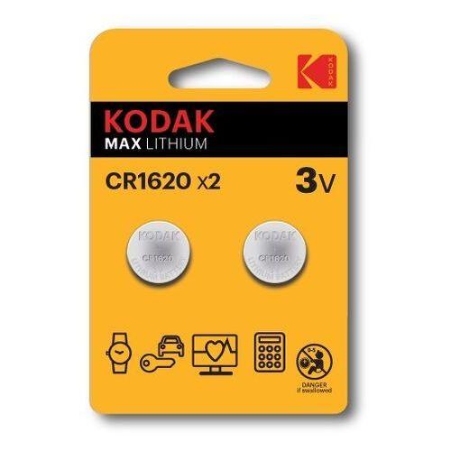 KODAK BATERIE LITOWE CR 1620 BLISTER X 2 SZT. - 30417694- Zamów do 16:00, wysyłka kurierem tego samego dnia!