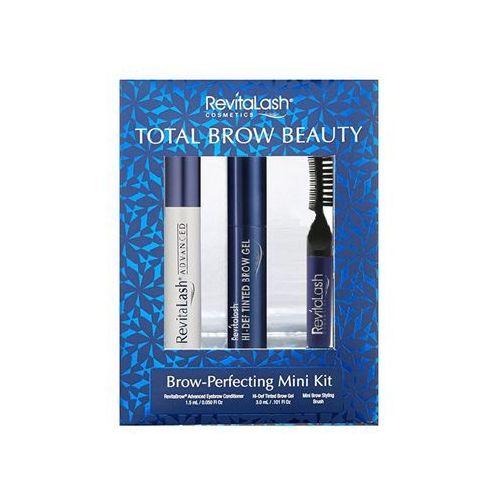 total brow beauty | zestaw podkreślający brwi odżywka 1,5ml, żel 3ml, grzebyczek marki Revitalash
