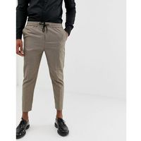 trousers in hounds tooth check - grey marki New look