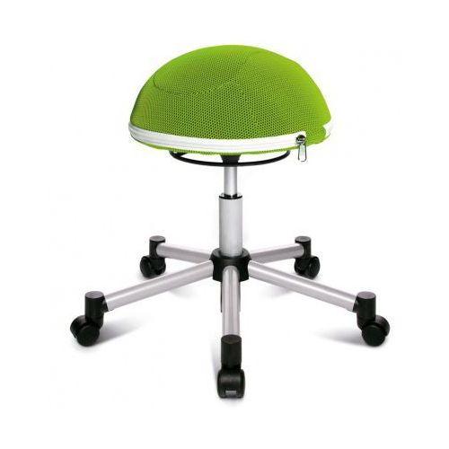 Krzesło dla zdrowych pleców half ball, krzyż metalowy, zielona marki Topstar