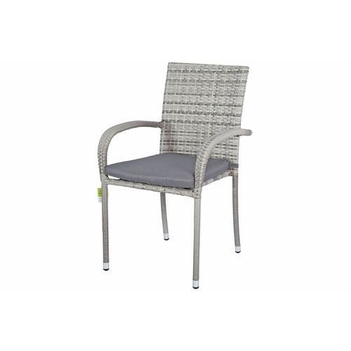 Krzesło ogrodowe z technorattanu MALAGA - szare - szary