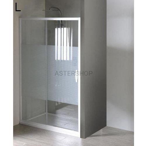 ETERNO drzwi prysznicowe do wnęki 100x190cm szkło STRIP GE6910, GE6910