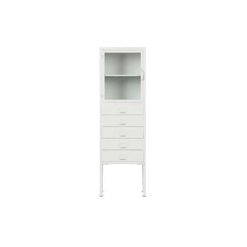 regał/kredens library metalowy biały 375111-w marki Woood