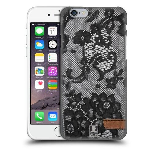 Etui plastikowe na telefon - Jeans and Laces BLACK LACE OVER BLACK DENIM z kategorii Futerały i pokrowce do telefonów