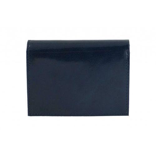 Klasyczny męski skórzany portfel - Granatowy
