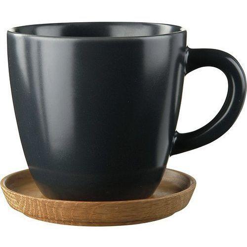 Filiżanka do espresso z podstawką Höganäs Keramik grafitowa