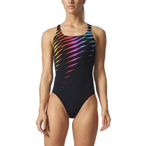 Strój do pływania adidas Graphic Swimsuit BR5705, kolor czarny