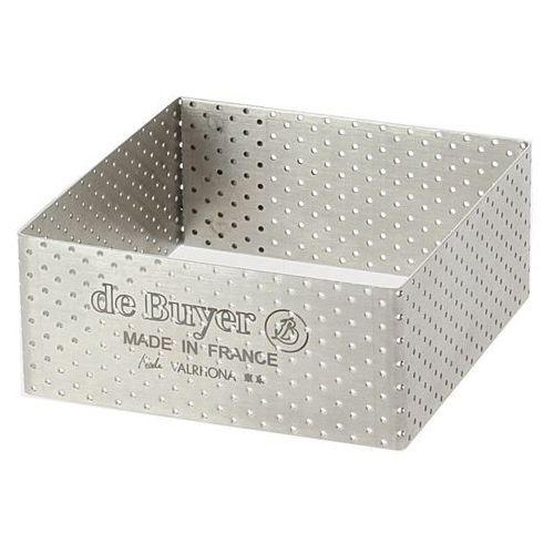 Rant piekarniczo-cukierniczy kwadratowy perforowany - 8x8 cm marki De buyer