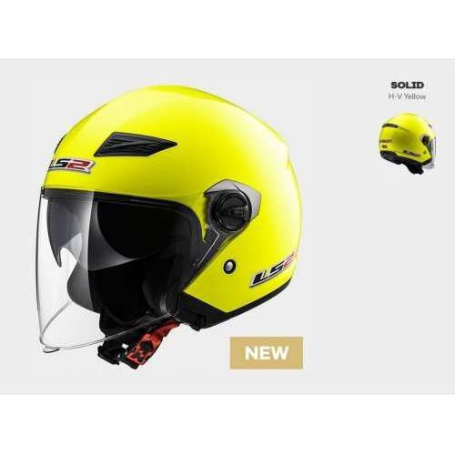 Ls2 Kask moto kask of569.2 track solid h-v yellow - blenda!