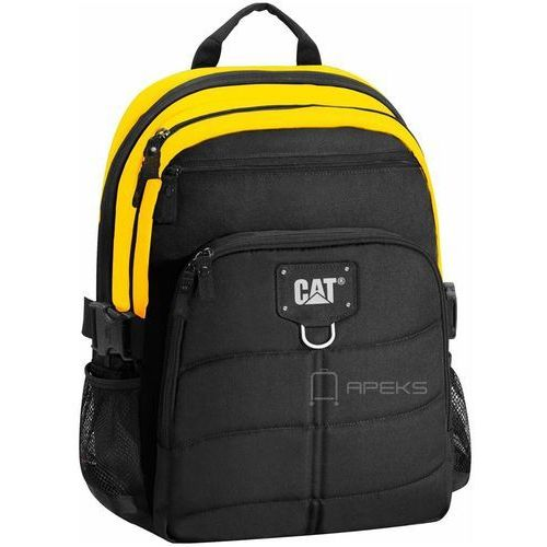 Caterpillar BRENT plecak na laptop 15,6'' / CAT / Black / Yellow - Black / Yellow