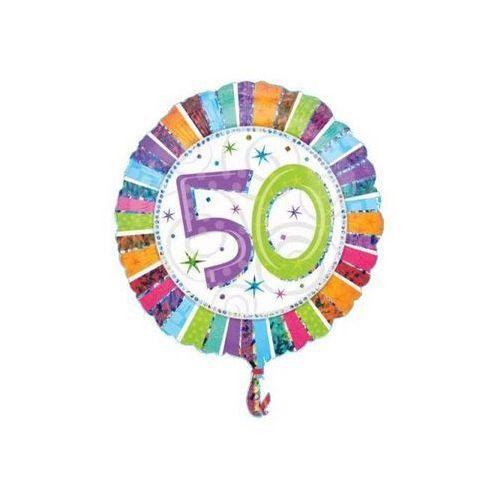 Balon foliowy 50te urodziny - Pięćdziesiątka - 47 cm