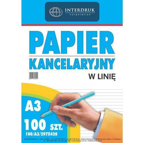 Papier kancelaryjny w linie Interdruk A3 100szt. (5902277160041)