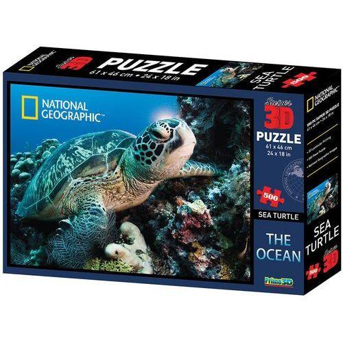 puzzle 3d żółw 500 el. marki Lamps