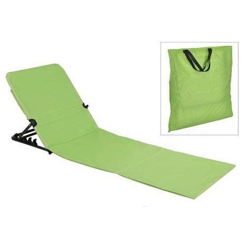 HI Składana mata plażowa z oparciem, PVC, zielona