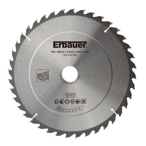 Tarcza do drewna Erbauer 254 x 30/25/20/16 mm 40T, SCT56965