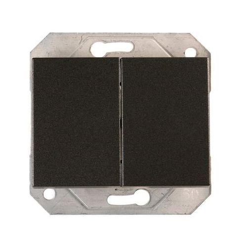 Włącznik podwójny grafitowy VILMA, P510-020-02 GR