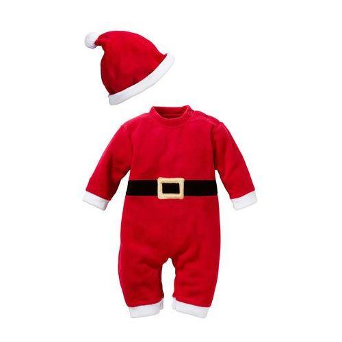 Kombinezon św. mikołaja dla niemowląt (2 części) czerwony marki Bonprix