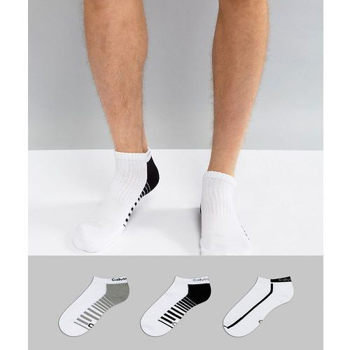 Calvin Klein Performance Trainer Sock In 3 Pack With Coolpass - White