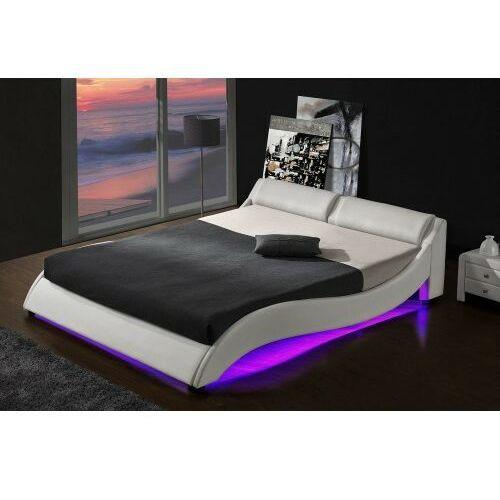Łóżko tapicerowane do sypialni 160x200 868 led białe marki Meblemwm