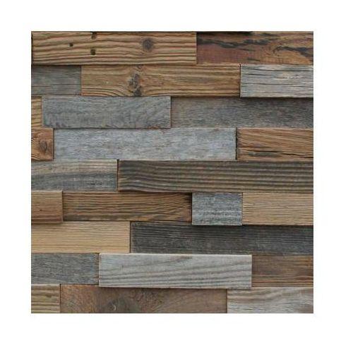 Retrocegiełka Retro drewno - ściana 3d